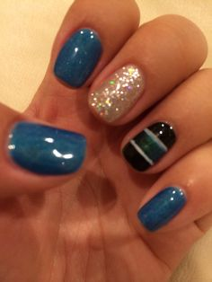 San Jose Sharks inspired nails!