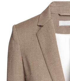 Fitted jacket | Beige/Checked | Ladies | H&M CA