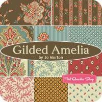 Gilded Amelia Fat Quarter Bundle Jo Morton for Andover Fabrics