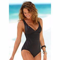 Vintage Een Stuk Badpak Vrouwen Badmode Solid Monokini Retro Bodysuit Strand Dragen Blauw Bad Pak Gestreepte Maillot De Bain