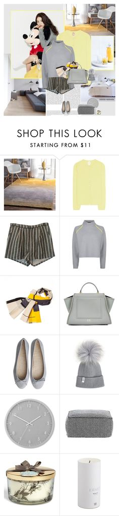 """""""Yellow and Grey"""" by rainie-minnie ❤ liked on Polyvore featuring Oris, nuLOOM, Jardin des Orangers, Sea, New York, Jaeger, Infinity, ZAC Zac Posen, Umbra and country"""