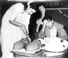 Nargis and Raj Kapoor on the occasion of the silver jubilee of �Boot Polish�