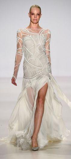 NY: Pamella Roland - Runway - Mercedes-Benz Fashion Week Spring 2015