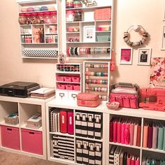 47 easy and cheap diy home office organization ideas 14 Study Room Decor, Cute Room Decor, Bedroom Decor, Craft Room Decor, Bedroom Ideas, Craft Room Design, Diy Casa, Craft Room Storage, Tape Storage