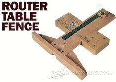 Precision Router Table Fence Plans - Router Tips, Jigs and Fixtures…