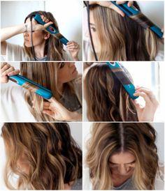 Como fazer ondas nos fios usando a chapinha #cabelo #tutorial #beleza