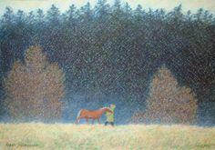Morning. 2014 cardboard / oil pastel, 35x50 #byart #artwork #originalart #artforsale