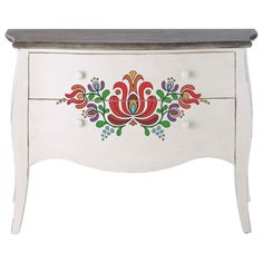 Hand Painted Furniture, Paint Furniture, Upholstered Furniture, Painting Wallpaper, Tole Painting, Painting On Wood, Hungarian Embroidery, Folk Embroidery, Norwegian Rosemaling