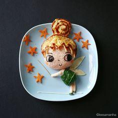 """""""Tinker Bell ✨ #leesamantha #foodart"""""""