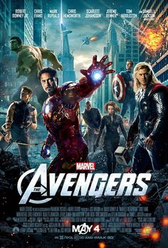The Avengers -Robert Downey Jr. Chris Evans Chris Hemsworth Mark Rufallo Scarlett Johansson Jeremy Renner T Avengers 2012, The Avengers, Avengers Poster, Avengers Movies, Superhero Movies, Avengers Trailer, Poster Marvel, Avengers Superheroes, Avengers Quiz