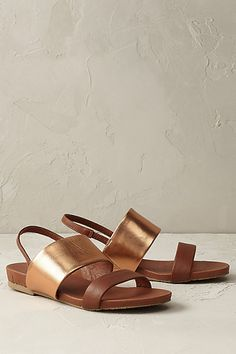 Anthropologie EU  Burnished Bronze Metallic Sandals