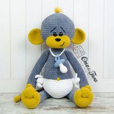 "Morris the Big Baby Monkey ""Big Hugs Series"" Amigurumi Crochet Pattern Crochet Amigurumi, Crochet Doll Pattern, Crochet Toys Patterns, Amigurumi Doll, Amigurumi Patterns, Stuffed Toys Patterns, Doll Patterns, How Big Is Baby, Big Baby"