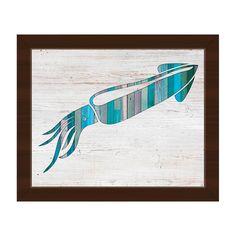 Horizon Squid' Canvas Espresso-framed Wall Art