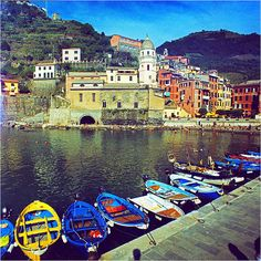 cinque terre. Didn't get to go there when I was in Italy, but it will happen one day.