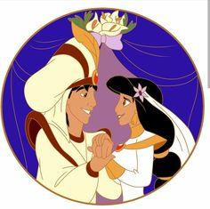 Jasmine & Aladdin Aladdin Princess, Disney Princess Jasmine, Aladdin And Jasmine, Princess Art, Princess Aurora, Best Disney Movies, Disney Films, Disney Dream, Disney Love