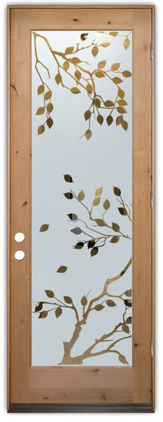glass entry doors leaves