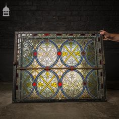 For Sale Pair of Opening Decorative Stained Glass Leaded Lights Salvo UK - Architectural Salvage, Reclamation Yards, UK, USA and Reclamation Yard, Architectural Antiques, Stained Glass Windows, Cast Iron, Lights, Architecture, Yards, Frames, Flat