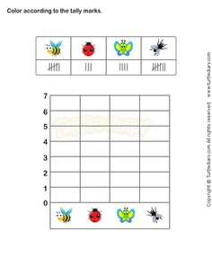 Tally Chart Worksheet 1 - math Worksheets - grade-1 Worksheets