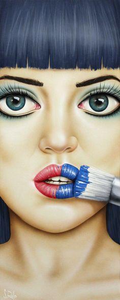I am a professional artist that paints figurative and portrait art. Fusing fashion and art in to a single form. Arte Pop, Pop Art, Different Kinds Of Art, Illustration Art, Illustrations, Portrait Art, Portraits, Face Art, Canvas Art Prints