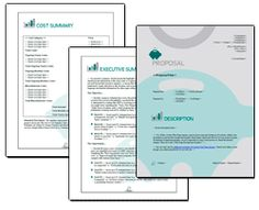 Proposal Pack Financial #3 - Editable and customizable templates in this design theme with a library of sample proposals and Wizard software to get you started right away writing any kind of proposal, quote, report or other business document. Hundreds of other designs also available only from ProposalKit.com (come over, learn more and Like our Facebook page to get a 20% discount)