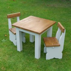 childrens rustic chunky plank dining table and chairs set from curiosity interiors alfreton available - Childrens Dining Table
