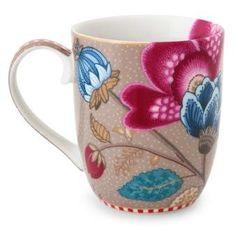 PiP Studio - 'Floral Fantasy' Collection - Small Mug, Khaki