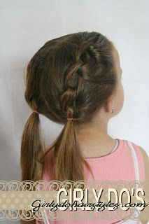 Want to try on Savannah when her hair gets long again ...this site has a ton of cute hair tutorials.