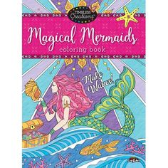 Timeless Creations Magical Mermaids 64 Page Premium Quality Adult Coloring Book By Cra-Z-Art, Multicolor Mermaid Coloring Book, Coloring Book Pages, Z Arts, Adult Coloring, Coloring Stuff, To Color, Books To Buy, Colored Pencils, Mermaids