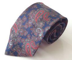 Bristol County Neck Tie Blue Red Brown Paisley #BristolCounty #NeckTie