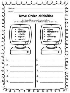 Orden alfabético_Nombre propio y común Spanish Classroom Activities, Spanish Teaching Resources, Spanish Worksheets, Worksheets For Kids, Language Immersion, Dual Language, Spanish Language, Language Arts, New Career