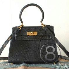 Grey lizard mini kelly bag c59c145e8d