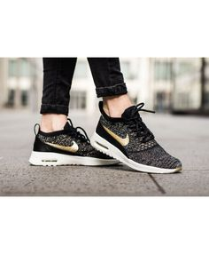 67172bb7d6 Air Max Thea Ultra Flyknit Metallic Black/Ivory/Metallic Gold Star Shoes
