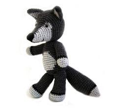 Boris the Wolf amigurumi by YukiYarn Designs