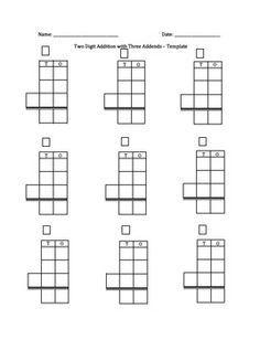 Calculating Molar Mass Worksheet Word Free Math Printable Digit Subtraction With Regrouping Worksheet  Rounding To The Nearest Ten Worksheet Word with Multiplying Fractions Word Problems Worksheet Word A Template For Two Digit Addition Or Subtraction With Three Addends  Purchase The Template And Reflex Angles Worksheet Pdf