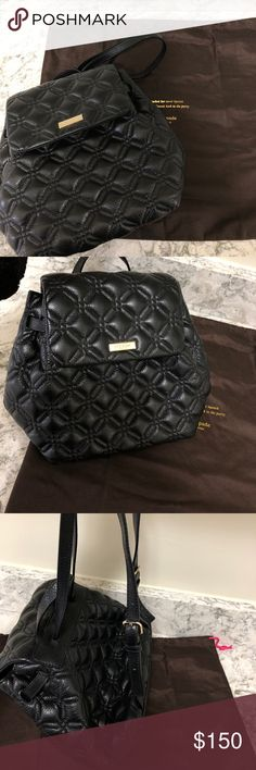 Kate Spade Marley Astor Black leather with hot pink lining. Excellent condition.  No pen marks, stains etc. smoke free. Comes with the dustbag. This is a rare purse. kate spade Bags Backpacks