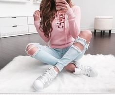 cute back to school outfit ideas for teens - www. - cute back to school outfit ideas for teens – www.glamantibeaut… Best Picture For outfits inver - Cute Fall Outfits, Girly Outfits, Mode Outfits, Outfits For Girls, Casual Outfits For Teens School, Cute Sweater Outfits, Casual Dresses For Teens, Teen Fashion, Fashion Outfits