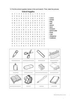 Vocabulary Worksheets, School Worksheets, Worksheets For Kids, School Supplies Organization, Diy School Supplies, Back To School Sales, I School, School Shirts, School Supplies Highschool