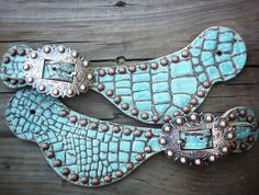 The Cowgirl Junkie spur straps turquoise and Western Horse Tack, Western Riding, My Horse, Horse Love, Western Wear, Horses, Cowgirl Chic, Cowboy And Cowgirl, Cowgirl Boots