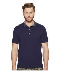 MISSONI MISSONI - SOLID PIQUE POLO (NAVY) MEN'S CLOTHING. #missoni #cloth #