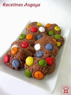 Chocolate Cookies with Lacasitos / Galletas de Chocolate con Lacasitos_RECETINES ASGAYA