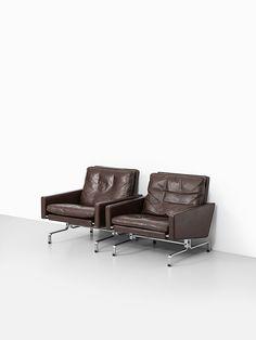 Poul Kjærholm PK-31/1 easy chairs by EKC at Studio Schalling