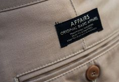 AFFAIRS Chino Pants reviewed by Red and White Magazine