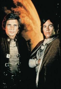Lt. Starbuck (Dirk Benedict), & Capt. Apollo (Richard Hatch) - Battlestar Galactica (1978-79)