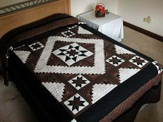Vermont Star Quilt -- gorgeous adeptly made Amish Quilts from Lancaster (hs733)