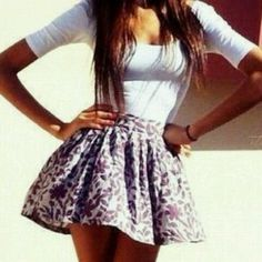 obsessed with tight shirts & short poofy skirts