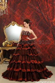 d7c793c53cd Ball-Gown Sweetheart Floor-Length Organza Taffeta Quinceanera Dress With  Beading H-122