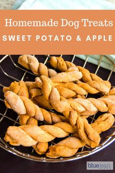 Homemade Dog Food A great treat for your favorite furry friend. Homemade dog treats are so good for your pup because you know exactly what goes in the recipe! Great and easy gift giving idea too! Sweet Potato Dog Treats, Sweet Potato And Apple, Sweet Potato Dog Food Recipe, Homemade Dog Cookies, Homemade Dog Food, Cookies For Dogs, Homade Dog Treats, Frozen Dog Treats, Diy Dog Treats