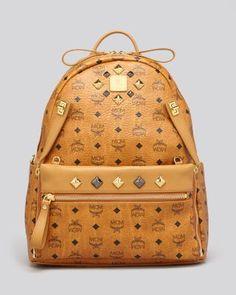 MCM Backpack - Stark Medium Dual Pocket Sprinkle Stud | Bloomingdale's