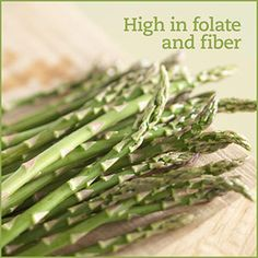 POWER Food for Diabetes #1 Asparagus.   If you love asparagus, you'll really love that it's a nonstarchy vegetable with only 5 grams of carb per serving and nearly 2 grams of dietary fiber. It is also high in the B vitamin folate, vitamin C, and a health-promoting antioxidant called glutathione, Glutathione may help boost the immune system and promote lung health by protecting against viruses.