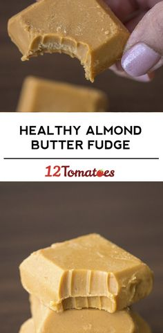 Healthy Almond Butter Fudge